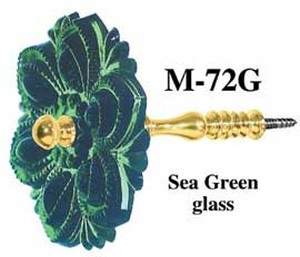 Pressed Glass Curtain Tieback Sea Green (M-72G)