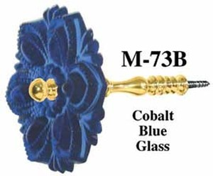 Pressed Glass Curtain Tieback Cobalt Blue (M-73B)