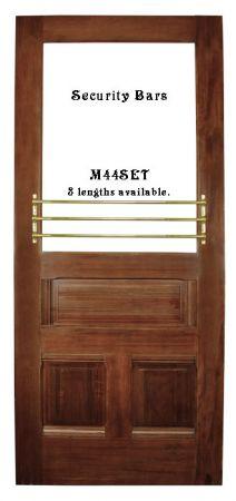 Vintage Style Window Or Door Security Push Bar Bracket Set (M44SET)