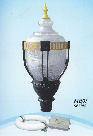 Large Induction Antique Style Acorn Street or Plaza Light 100 Watt (100-MB03)