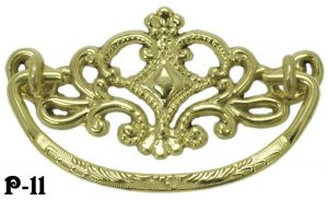 "Cast Brass Victorian Lacy Handle 3 "" Boring (P-11)"