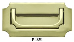 Military Campaign Style Flush Mount Recessed Handle (P-13M)