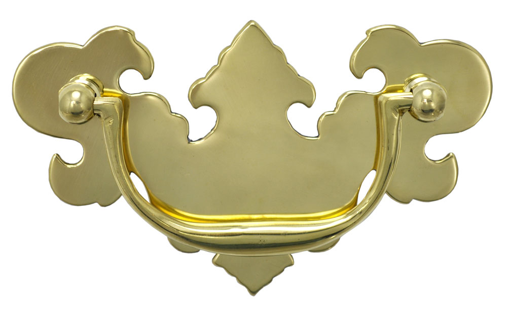 KEYHOLE COVER ESCUTCHEON CHIPPENDALE COLONIAL REVIVAL ANTIQUE STYLE SOLID BRASS