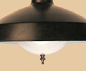Incandescent Bulb Shield With Harp & Finial (P702H)