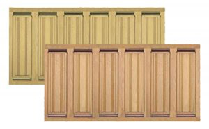 Quality Solid Wood Raised Panel Wainscoting--Available in Two Woods (PT-PN16 and PT-CD16)