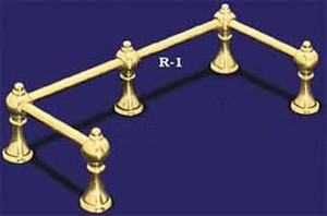 "Gallery Rail Brass Rod 18"" Long  3/16"" Diameter (R-1)"