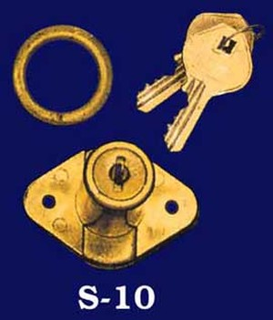 Round Barrel Composition Lock & Keys (S-10)