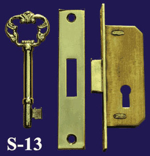 Antique Style Full Mortise Cabinet Lock (S-13)