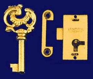 Style Small Surface Mounted Lock with Key (S-1)