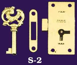 Large Surface Mounted Lock with Key (S-2)