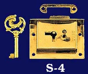 "Half Mortise Lock W/ Key - 2 1/2"" Wide (S-4)"