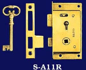 Right Hand Wardrobe Door Lock & Key (S-A11R)