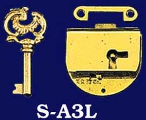 American-Style-Left-Hand-Lock-with-Key-(S-A3L)
