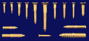 "100 Oval Head #10 Brass Screws 1 3/8"" Long (S-C100)"