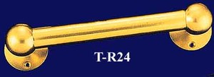 Solid Brass Heavy Duty Towel Rail Or Curtain Rod With Mounting Ends- Choice Of Size and Finish (T-R24)