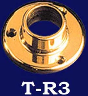 Brass Shower Rod End (T-R3)