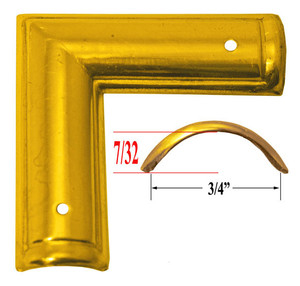 "Recessed Panel Profile Shaped Corner Trunk Trim 3/4"" Wide (X-2)"