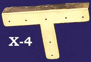 "Plain Design Folded ""T"" Trim (X-4)"