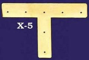 "Plain Design Flat ""T"" Trim Piece (X-5)"