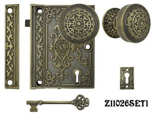 Decorative-Surface-Mounted-Interior-Locking-Door-Set-(Z11026SET1)