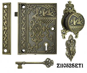 Decorative Surface Mounted Interior Locking Door Set with Aesthetic Knob(Z11052SET1)