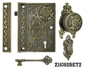 Decorative Surface Mounted Interior Locking Door Set with Aesthetic Knob(Z11052SET2)