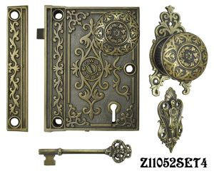 Decorative Surface Mounted Interior Locking Door Set with Aesthetic Knob(Z11052SET4)