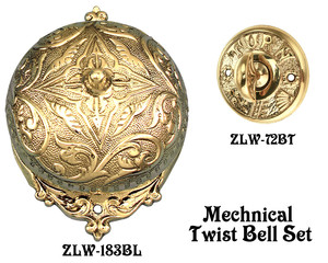 Recreated Interior Bell For Victorian Twist Doorbell SET (Z183S1A-PB)