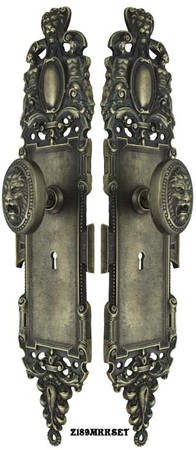 Roaring-Lion-Door-Plate-Set-with-Locking-Keyed-Mortise-(Z189MKKSET)