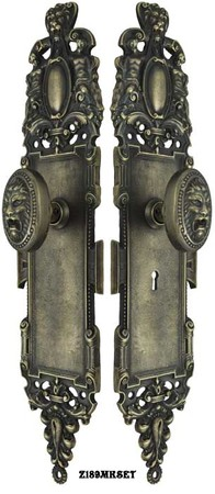Roaring-Lion-Door-Plate-Set-with-Locking-Keyed-Mortise-(Z189MKSET)