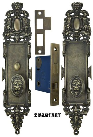 Roaring Lion Door Plate Passage Set with Locking Turnlatch (Z189MTSET)