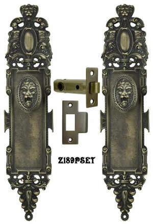 Roaring Lion Door Plate Interior Passage Set (Z189PSET)