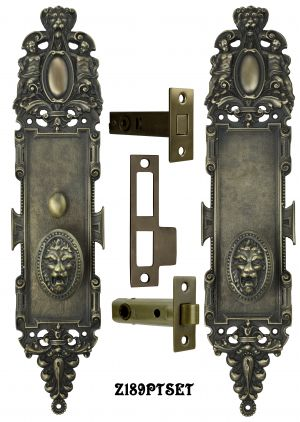 Roaring Lion Door Plate Passage Set with Locking Turnlatch (Z189PTSET1)