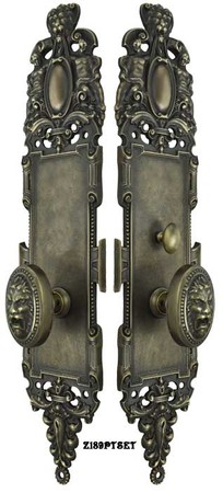 Roaring-Lion-Door-Plate-Passage-Set-with-Locking-Turnlatch-(Z189PTSET1)