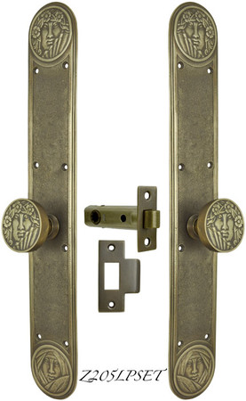 Art Nouveau Lady Face Low Knob Passage Set (Z205LPSET)