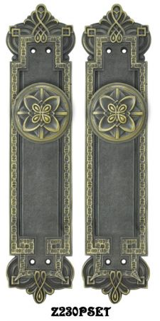 Gothic Byzantine Interior Passage Door Set (Z230PSET)