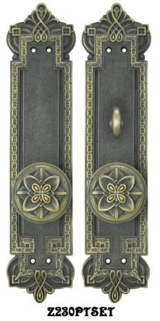 Gothic Byzantine Interior Passage Set with Locking Turnlatch (Z230PTSET)