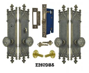 Victorian Amiens Gothic Double Door Entry Set (Z260DBS)