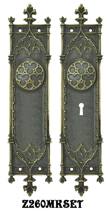 Vintage hardware lighting victorian amiens gothic door - Interior door privacy mortise lock ...