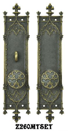 Gothic Amiens Door Plates Set with Turnlatch Mortise (Z260MTSET)