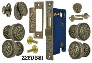 Windsor Pattern Double Door Entry Set with Swing Cylinder Cover (Z26DBS1)