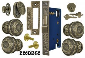 Windsor Pattern Double Door Entry Set with Swing Cylinder Cover  (Z26DBS2)