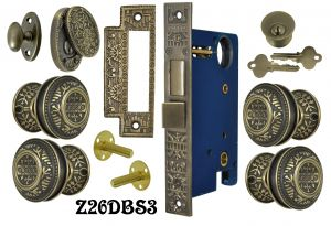Windsor Pattern Double Door Entry Set with Swing Cylinder Cover  (Z26DBS3)