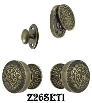 Windsor Pattern Entry Door Set with Swing Cylinder Cover (Z26SET1)