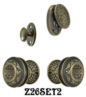 Windsor Pattern Entry Door Set with Swing Cylinder Cover  (Z26SET2)