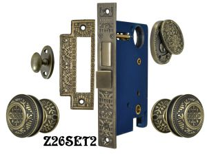 Windsor-Pattern-Entry-Door-Set-with-Swing-Cylinder-Cover--(Z26SET2)