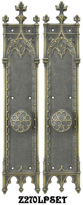 Vintage hardware lighting large gothic amiens interior for Interior passage doors