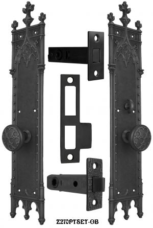 Large-Gothic-Amiens-Interior-Passage-Set-with-Locking-Turnlatch-(Z270PTSET)