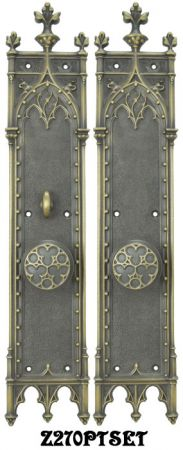 Large Gothic Amiens Interior Passage Set with Locking Turnlatch (Z270PTSET)