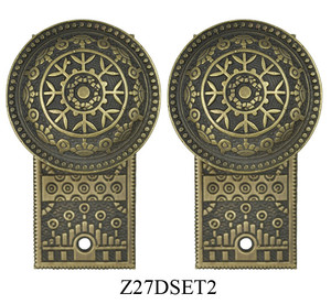 Windsor-Pattern-Small-Door-Plate-Dummy-Set-(Z27DSET2)